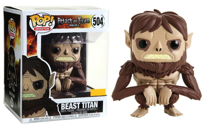 Attack on Titan Funko POP! Animation Beast Titan Exclusive 6-Inch Vinyl Figure #504