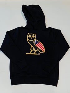 OVO USA OG Owl Gold Flag Hoodie Chicago Flagship Exclusive