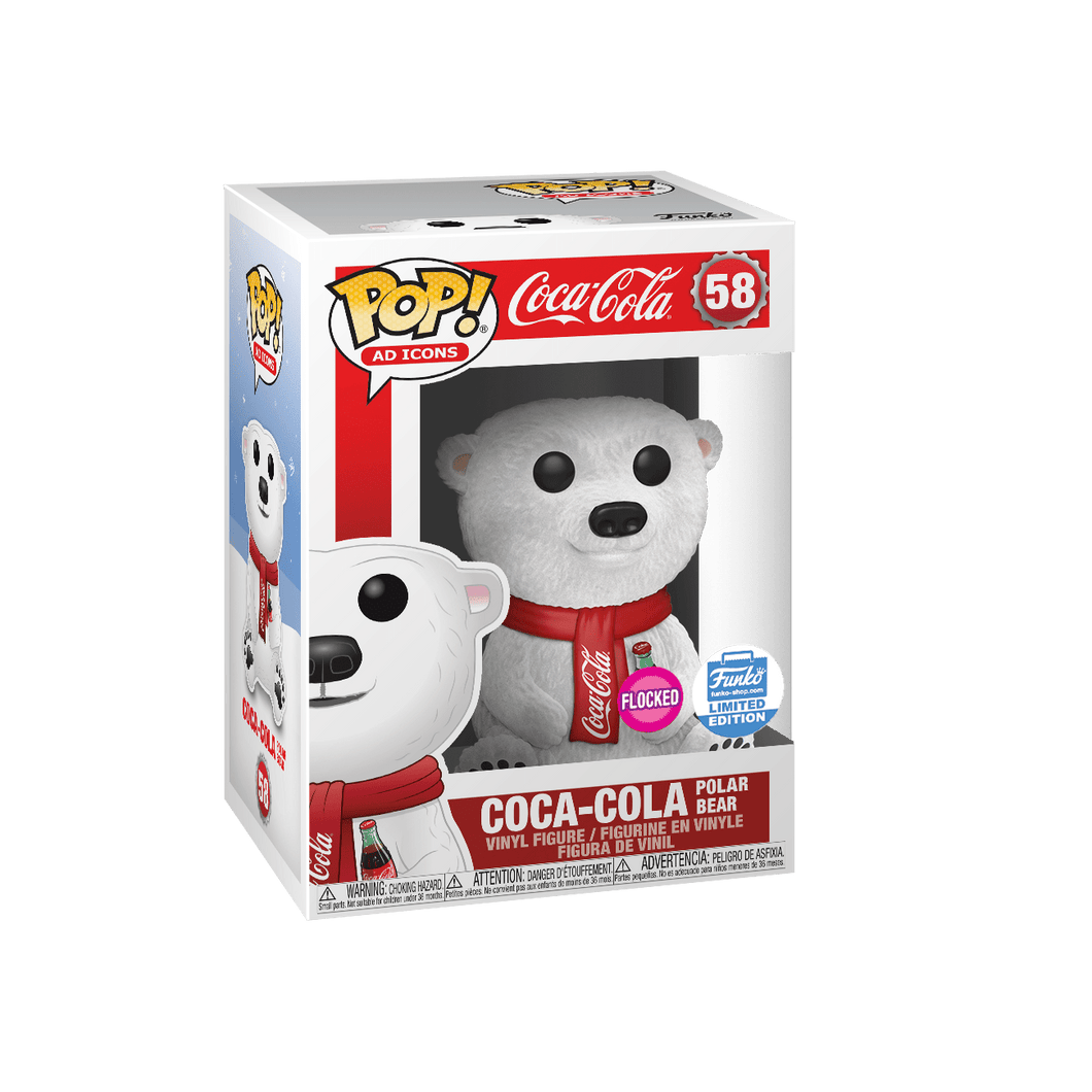 Coca- Cola Polar Bear (Flocked) Funko Exclusive