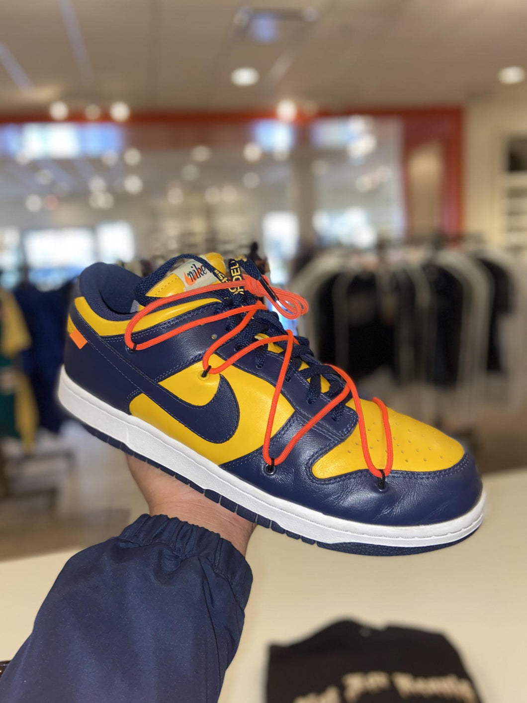 Nike Dunk Low Off-White University Gold Midnight Navy PreOwned