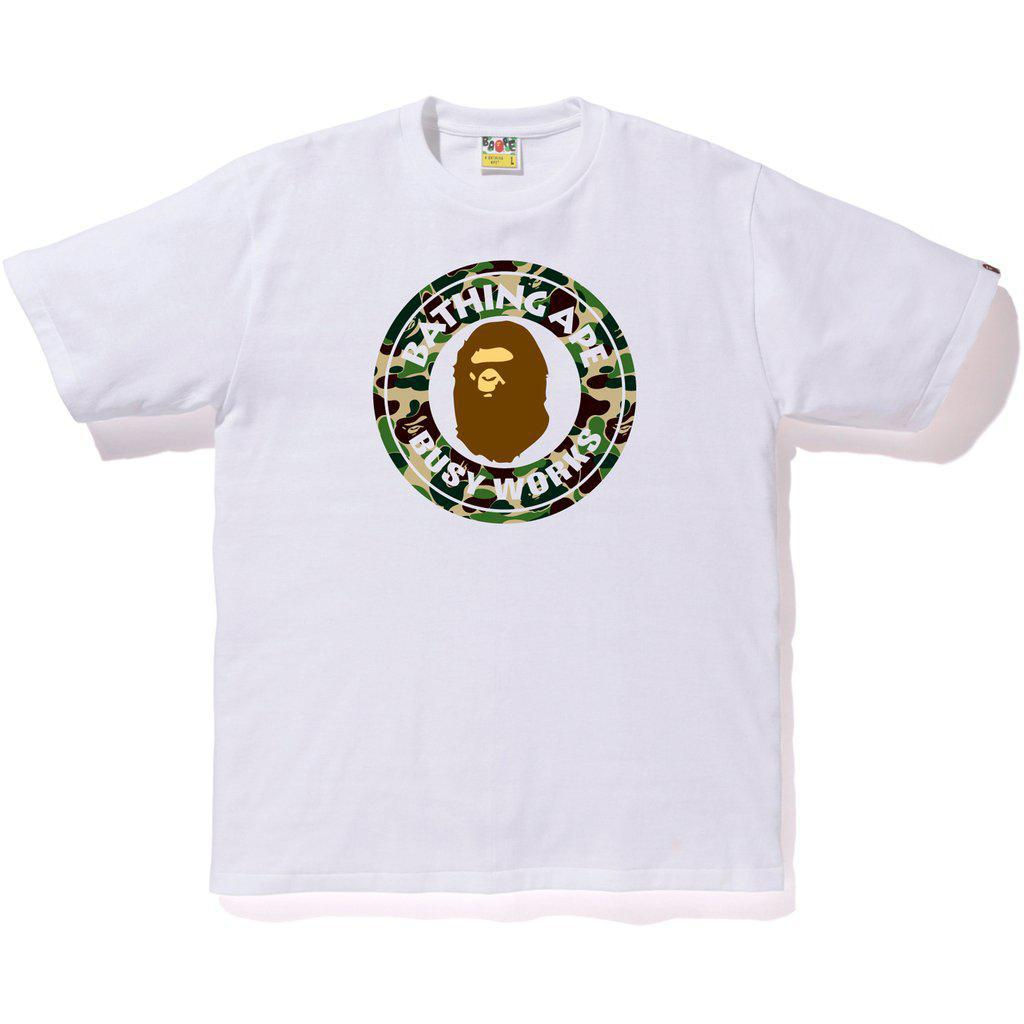 BAPE ABC Camo Busy Works Tee White/Green