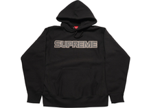 Load image into Gallery viewer, Supreme Perforated Leather Hooded Sweatshirt Black