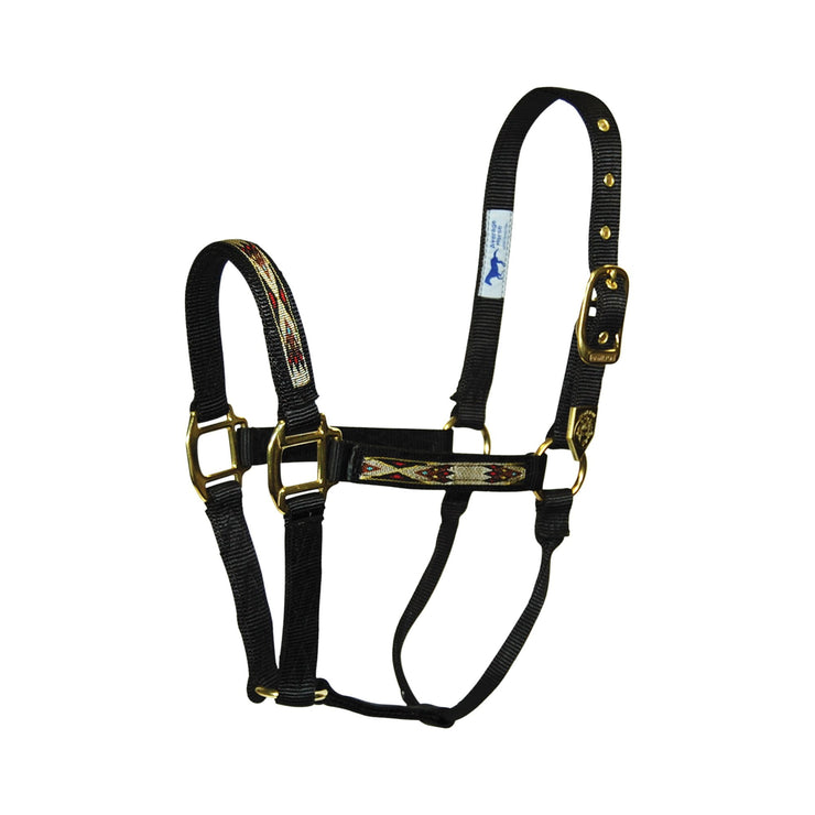 "1"" Deluxe Nylon Halters with Southwest Overlay - Halter - Hamilton - Miracle Corp"