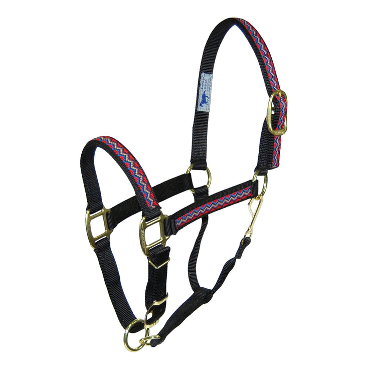 "1"" Quality Nylon Halters with Weave Overlay Adjustable Chin & Snap - Halter - Hamilton - Miracle Corp"