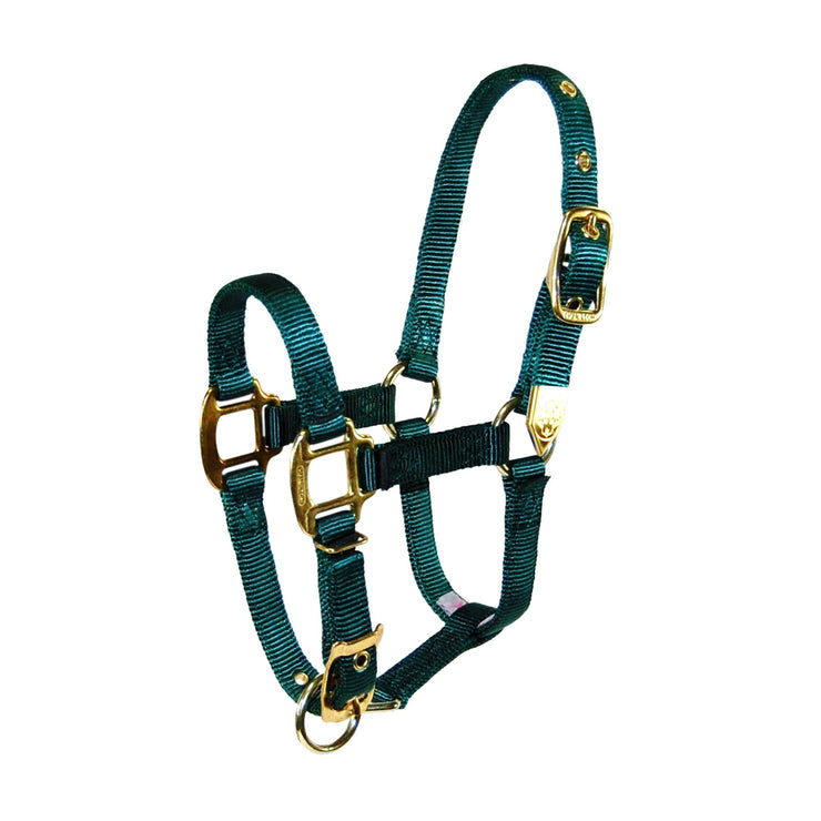 "3/4"" Arabian Deluxe Nylon Halters with Adjustable Chin Strap - Halter - Hamilton - Miracle Corp"