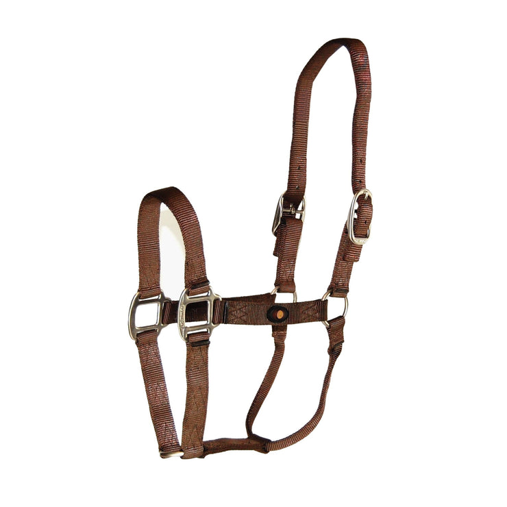 "1"" Deluxe Nylon Halters with Brushed Metal Hardware - Halter - Hamilton - Miracle Corp"