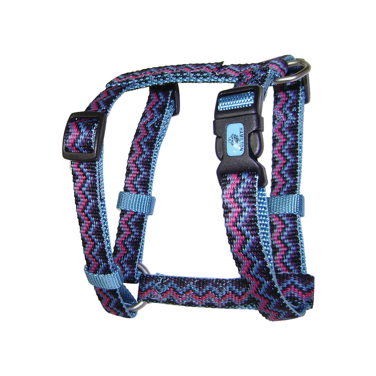 Comfort Weave Print Harnesses with Brushed Nickel