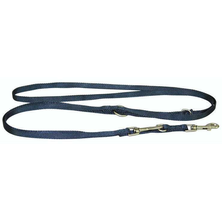 Single Thick Multi-Use/Euro Leash with Brushed Nickel Finish
