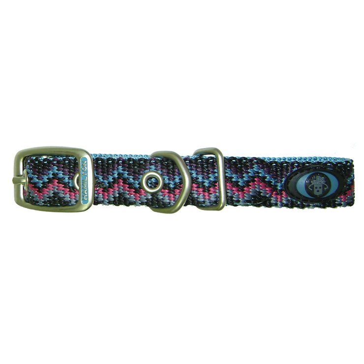 Weave Buckle Collar with Brushed Nickel Finish
