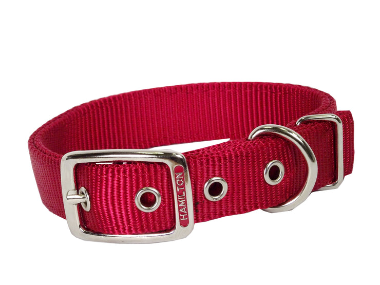 "Classic Double Thick Buckle Collars, Large 18"" - 24"""