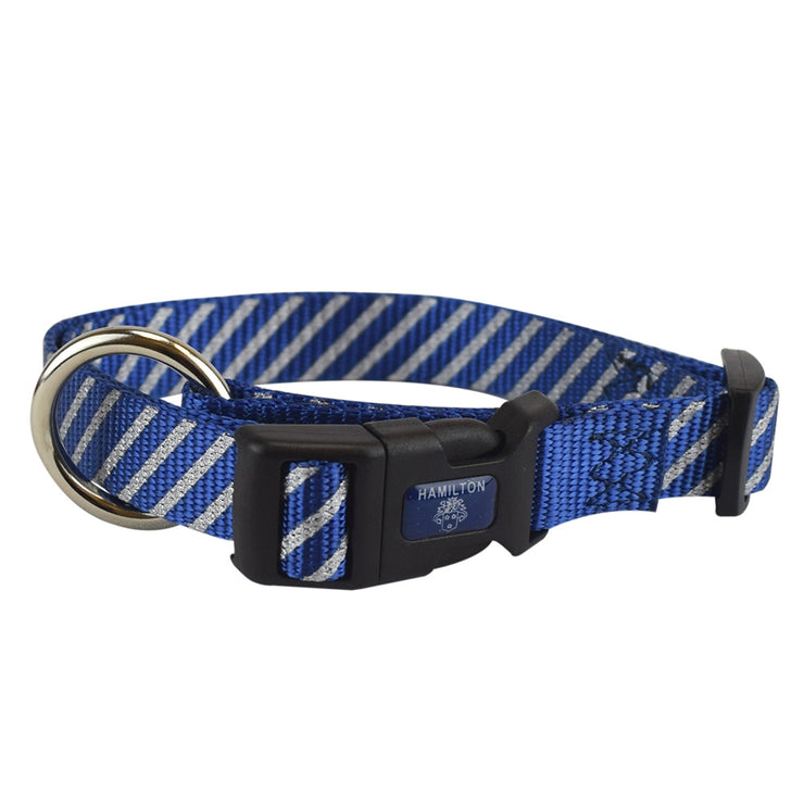 Reflective Bones & Stripes Adjustable Collars