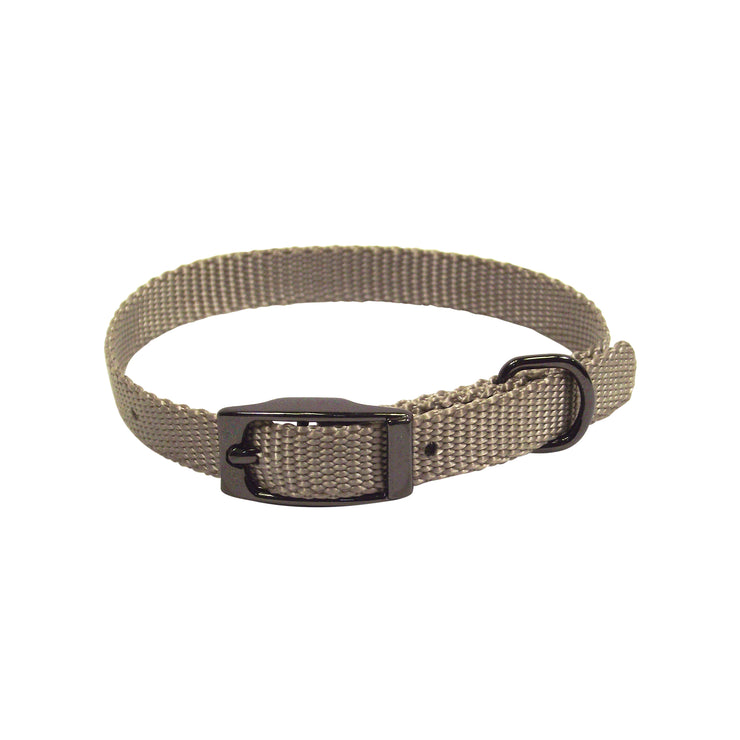 Single Thick Buckle Collars with Gunmetal Finish