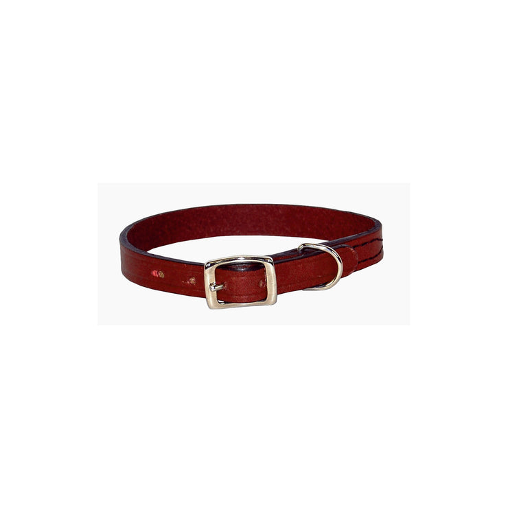 Flat Creased Leather Buckle Collars