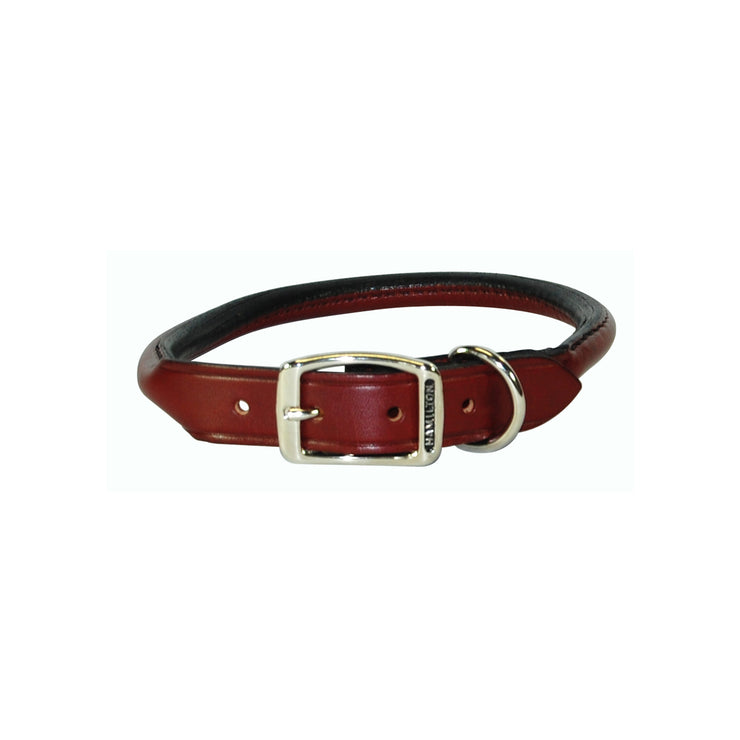 Rolled Leather Buckle Collars