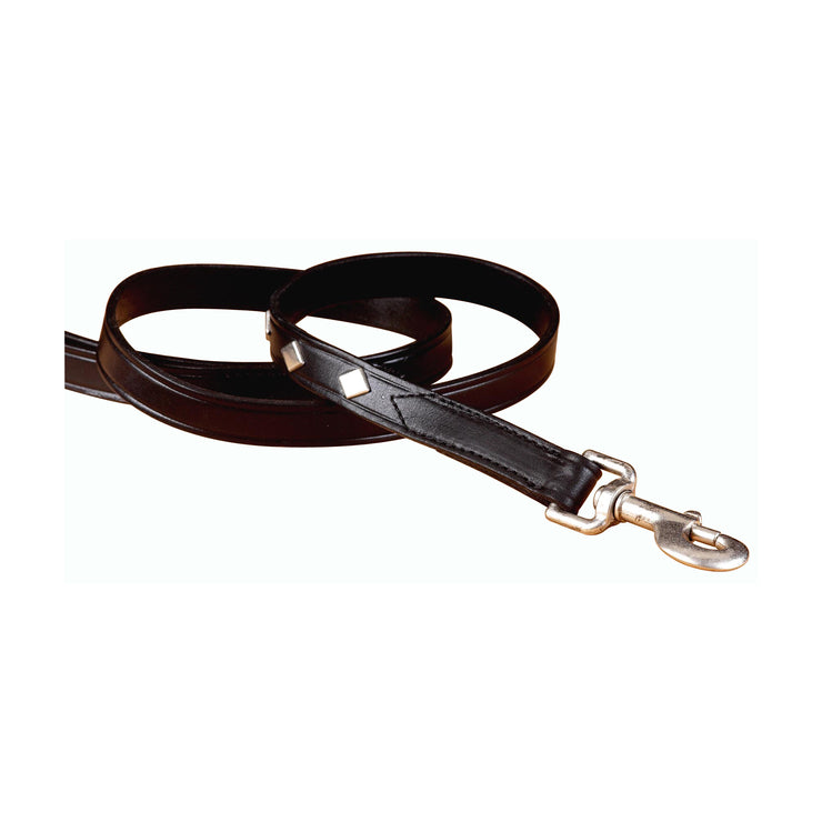 Leather Leash with Diamond Shaped Accents