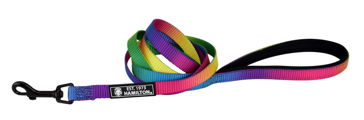 Rainbow Leashes with Neoprene Padding