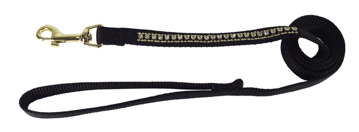 Specialty Single Thick Leash with Rhinestones