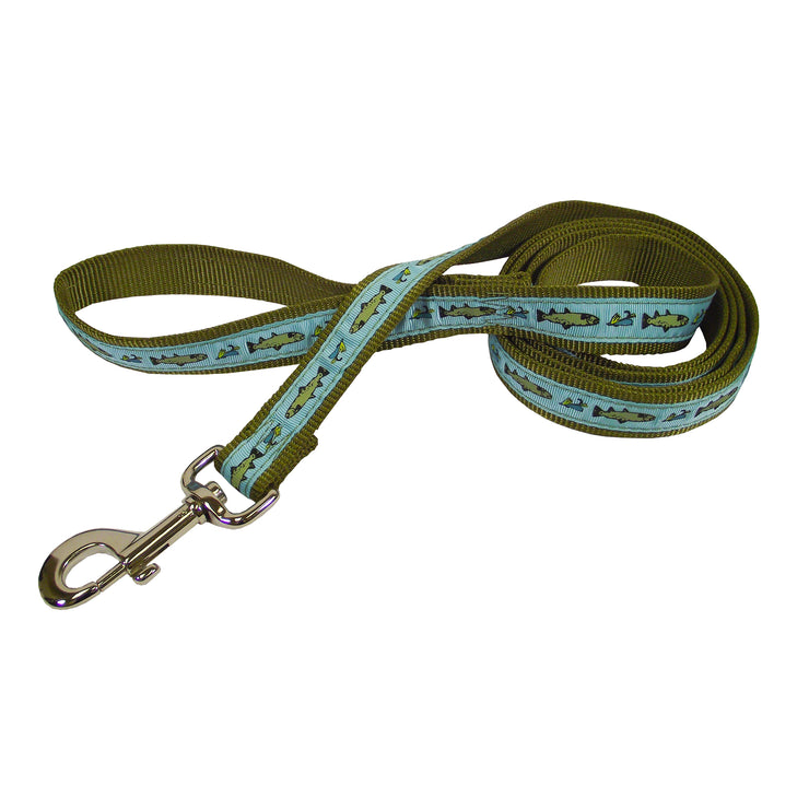 Classic Fashion Single Thick Leash with Ribbon Overlay