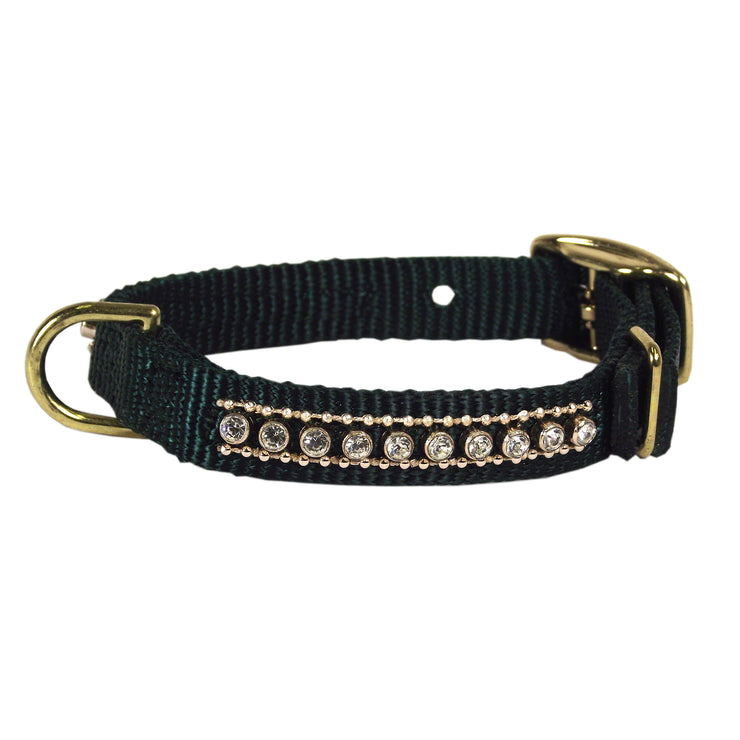 Buckle Collars with Rhinestones