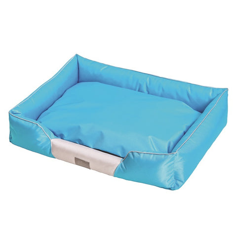 Cosy Soft Dog Bed Blue Grey Large 90x70x18cm
