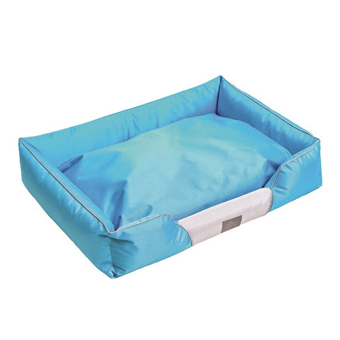 Cosy Soft Dog Bed Blue Grey X-Large 120x90x20cm