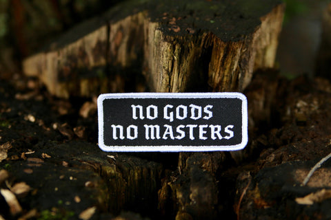 BIKE JERKS No Gods No Masters Patch