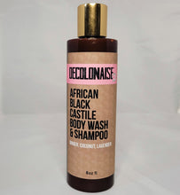 Load image into Gallery viewer, African Black Castile Body Wash and Shampoo