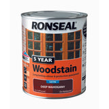 5 Year Woodstain 2.5lt Satin Black Ebony