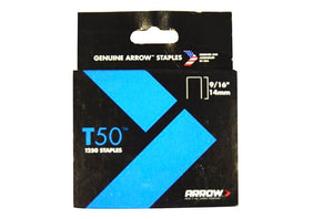 Arrow T50/55 3/8in (10mm) Staples (Pack 1250)