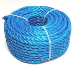 12mm Mini Coil Blue Rope 15M