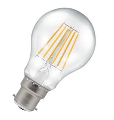 LED GLS Filament Lamp Bulb Clear BC B22- 9W W/White