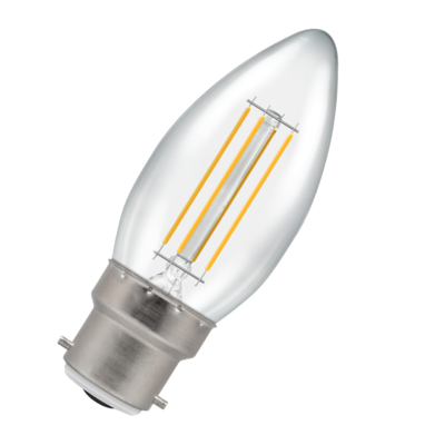 LED Filament Dimmable Candle Bulb BC B22