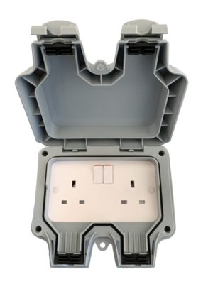 IP65 Twin Switched Outdoor Socket Outlet