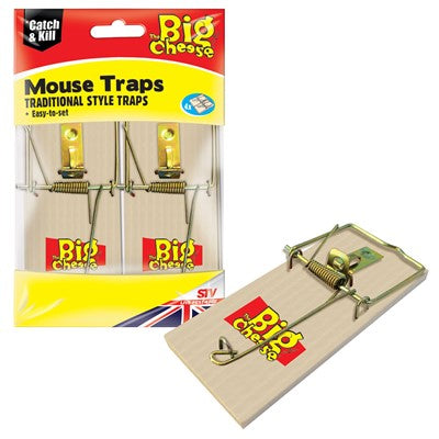 Big Cheese Wooden Mouse Trap 4 Pack STV040