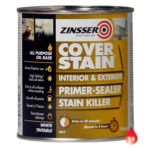 Zinsser Cover Stain White Paint 2.5Lt