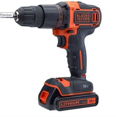 Black & Decker 18v Combi Drill with 120 Accessory Set