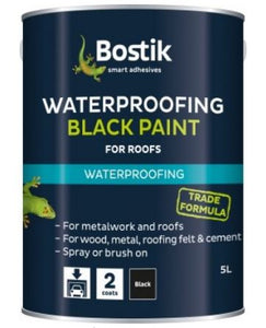 Bostik Black Bituminous Black Paint 5L