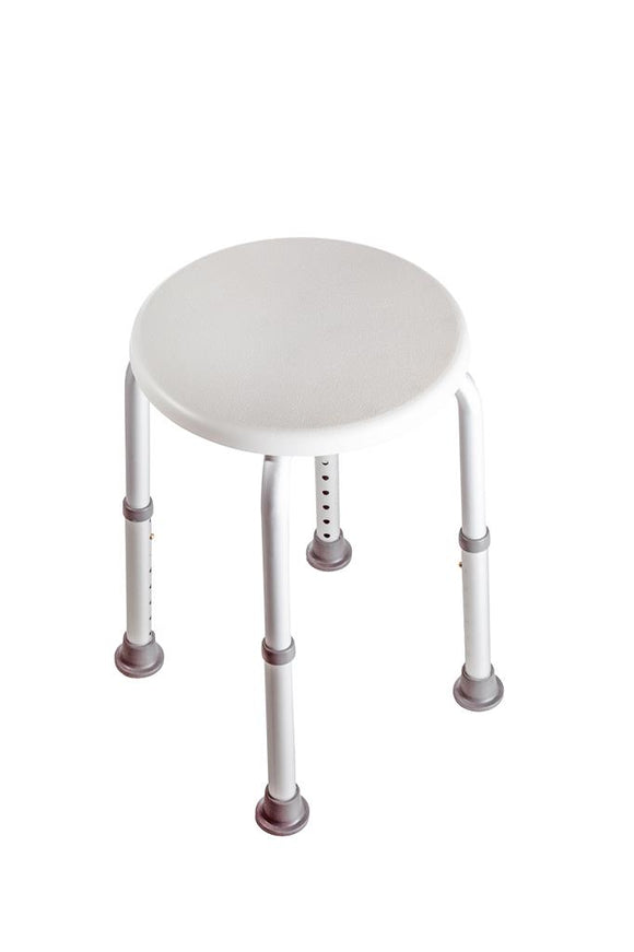 Living Plus round bath shower stool adj height