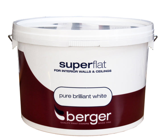 Berger Superflat White Paint 10 Litre