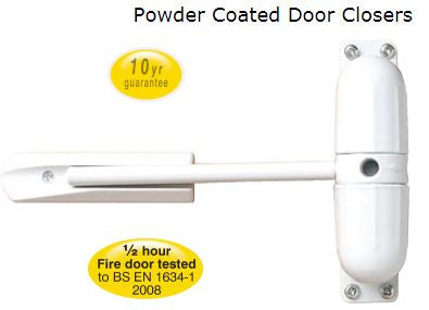 Sterling Surface Mounted Door Closer White