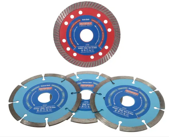 Faithfull Diamond Blade Set of 4