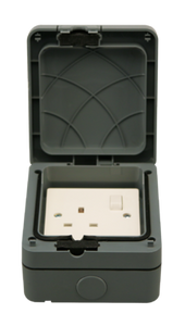 IP65 Single Switched Outdoor Socket Outlet