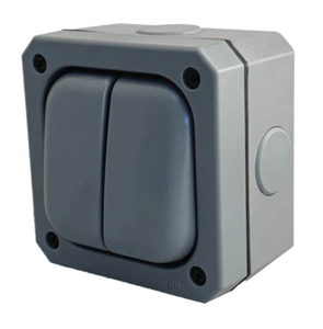 10 Amp 2 Gang 2 Way IP66 Outdoor Switch