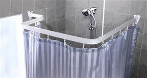 Euroshowers Bendi Curtain Track Chrome