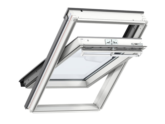Velux White Painted Centre Pivot FK06 Roof Window - 66X118Cm