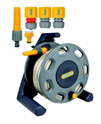Hozelock 2412 25m Compact Reel c/w Hose and Fittings