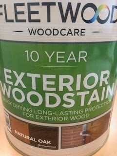 Fleetwood Exterior Woodstain Natural Oak 2.5lt