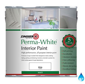 Zinsser Perma White Interior Matt Paint 2.5Lt