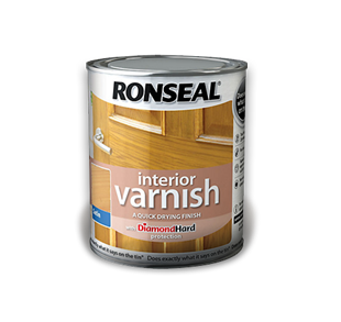 Ronseal Interior  Varnish 750ml Satin Teak