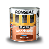 10 Year Woodstain 2.5lt Satin Deep Mahogany